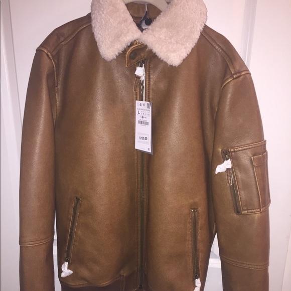 Zara Jackets Coats Brand New Man Leather Coat Poshmark
